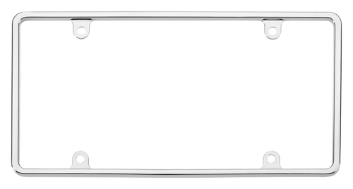 Chrome License Plate Frame-Slim (032918213302)