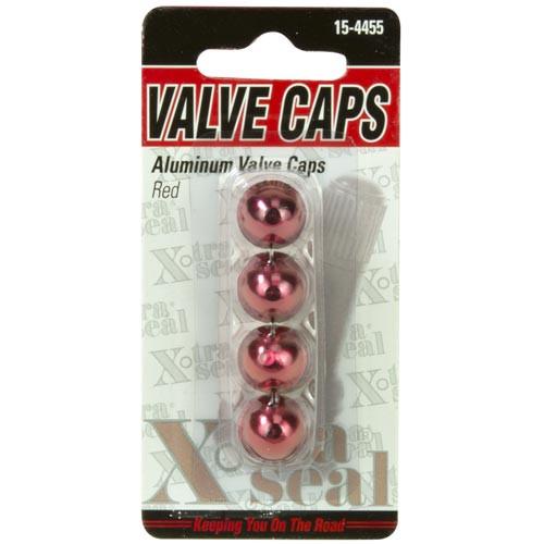 Aluminum Valve Caps-Red (15-4455)