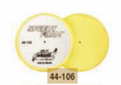 """6"""" Speedy Foam Flat Foam Compounding Pad- Yellow (44-106)"""