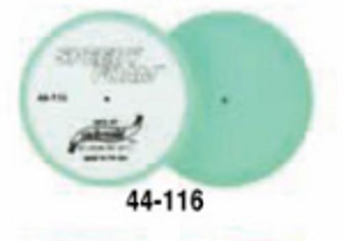 """6"""" Speedy Foam Flat Foam Buffing Pad- Green (44-116)"""