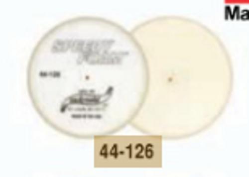 """6"""" Speedy Foam Flat Foam Finishing Pad- White (44-126)"""