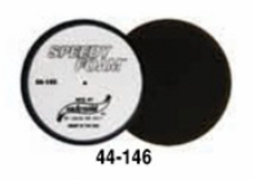 """6"""" Speedy Foam Flat Foam Polishing Pad- Black (44-146)"""