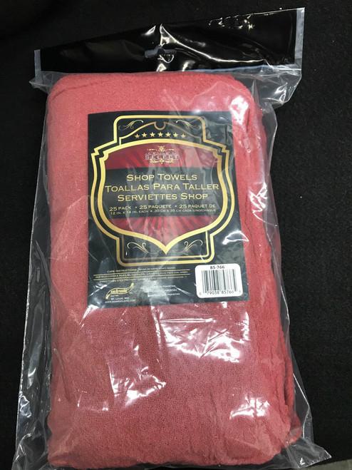 Red Shop Towels- 25pk (85-766)