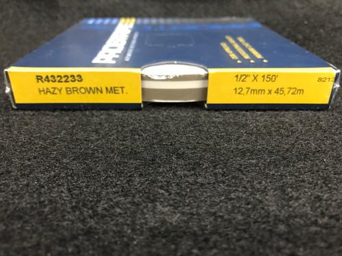 "R432233 Hazy Brown Metallic Double Stripe Thick & Thin 1/2"" x 150' (R432233)"