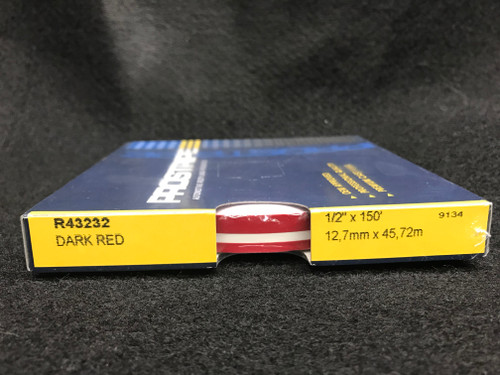 "R43232 Dark Red Double Stripe Thick & Thin 1/2"" x 150' (R43232"
