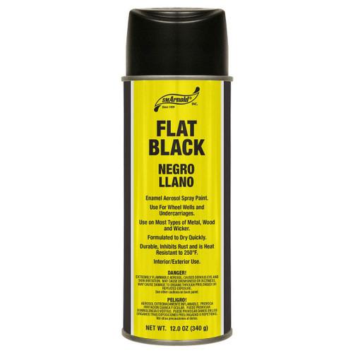 Flat Black Enamel Spray Paint (66-104)