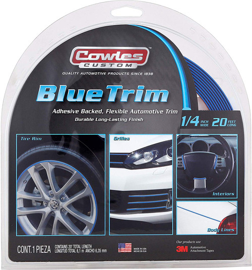 "Custom Blue Trim 1/4"" x 20' (S37523)"
