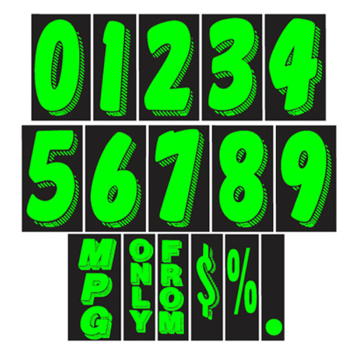 11 1/2 inch Chartreuse Adhesive Number (EZ113)