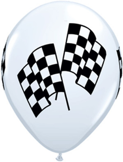 11 Inch Checkered Racing Flag Balloons (EZ513-RACE)