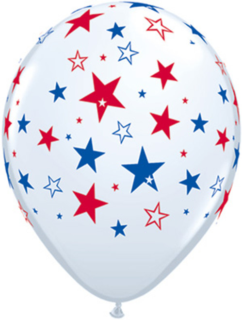 16 Red & Blue Star Balloons (EZ513-STAR)