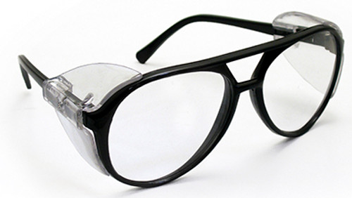 Classic Safety Glasses, Black Frame/Clear Lens (5125)