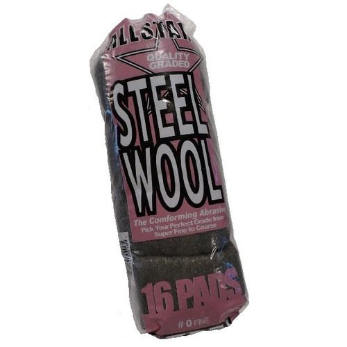 ALLSTAR STEEL WOOL PADS 16/SLV 0 GRADE