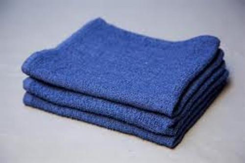 "Blue Cotton Terry Towel-26""x16"" (139-100)"