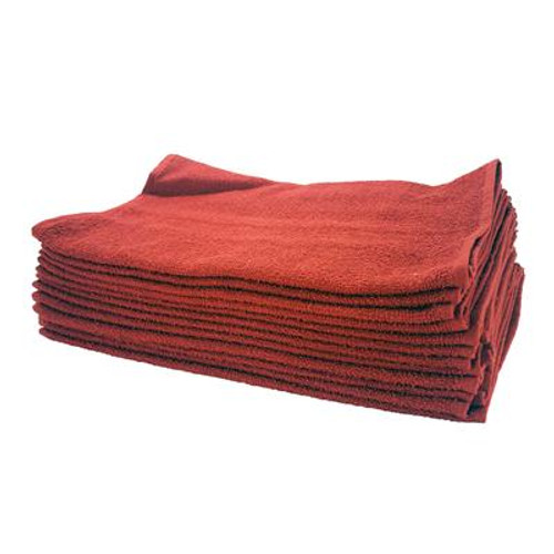 """Red Cotton Terry Towel-26""""x16"""" (139-400)"""