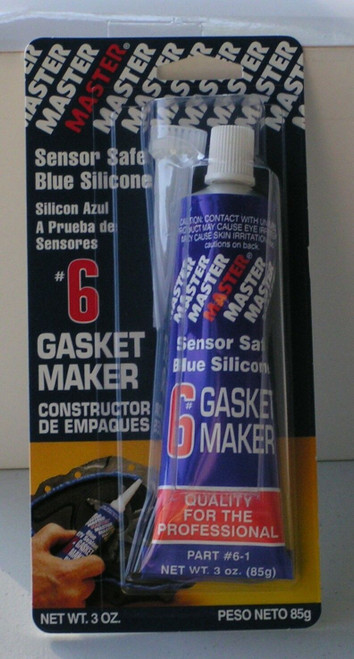 #6 - Sensor Safe Blue RTV Silicone Gasket Maker 3 Oz Tube (031808020389)