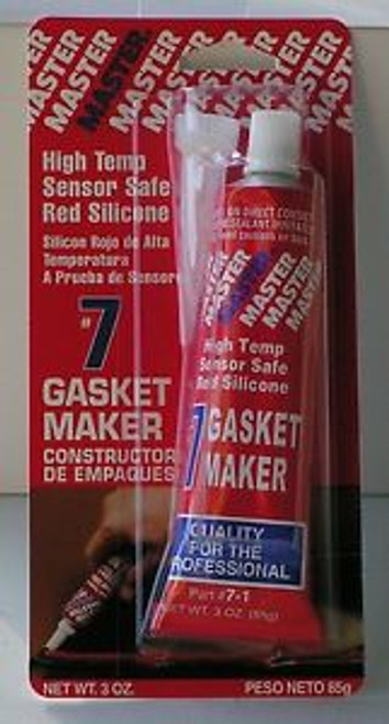 #7 - Sensor Safe Red High Temp RTV Silicone Gasket Maker 3 Oz Tube (031808035420)