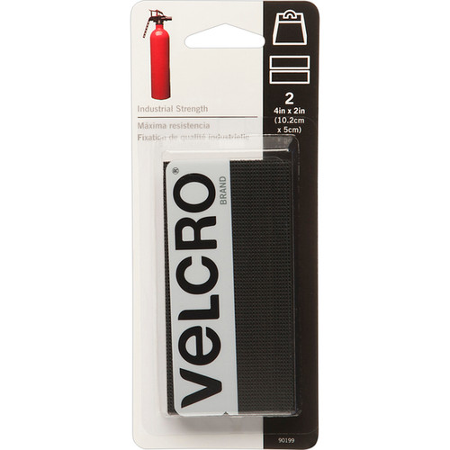 "Velcro Industrial Strength 4"" x 2"" 2 pack Black (90434)"