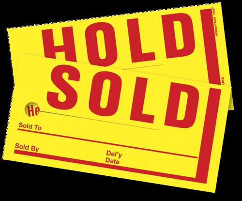 Jumbo Sold/Hold Tags (#850)