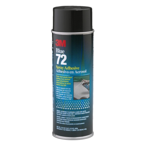 3M 30025 Pressure Sensitive Spray Adhesive 72 Blue, 24oz. Can (30025)