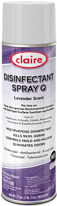 DISINFECTANT SPRAY Q LAVENDER SCENT ( CL1003)