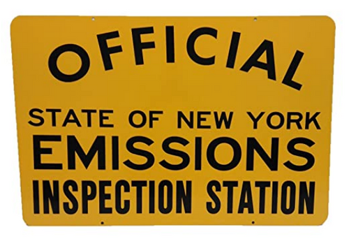 Metal Sign: OFFICIAL: State of New York, Emissions Inspection Station (NYS-EC)