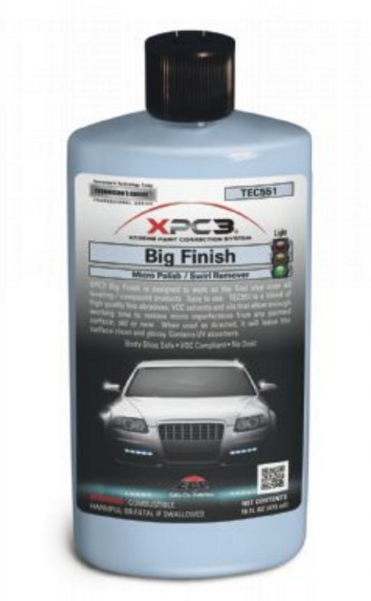XPC3 Big Finish Micro Polish / Swirl Remover 16oz. (TEC55116)