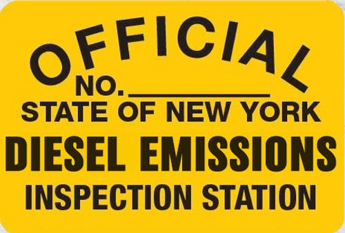 Metal Signs Diesel Emissions Inspection Station