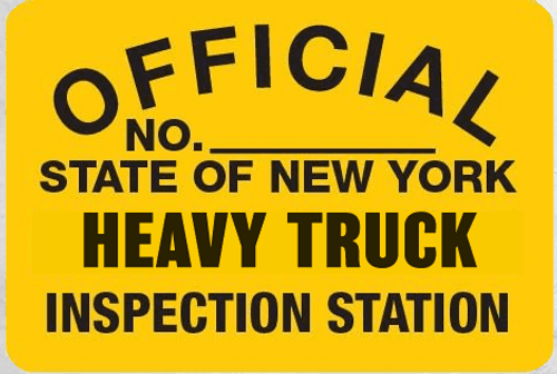 Metal Signs Heavy Truck Inspection