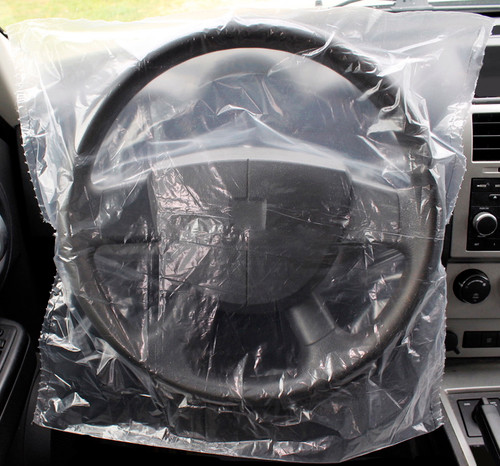 Slide-On Plastic Disposable Steering Wheel Covers (SWC15)