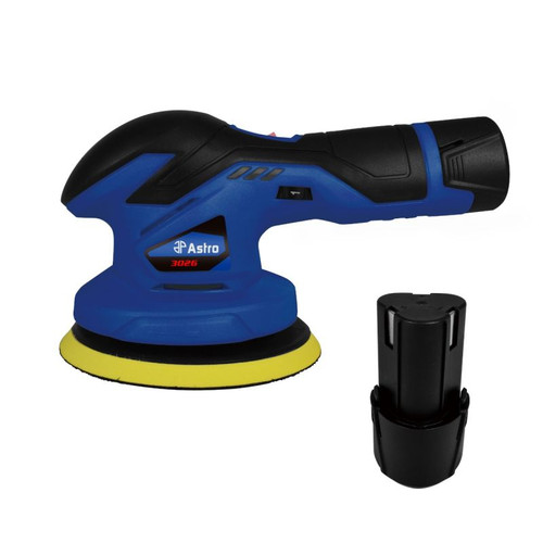 12V Cordless Variable Speed Palm Polisher with 2 Batteries (3026)