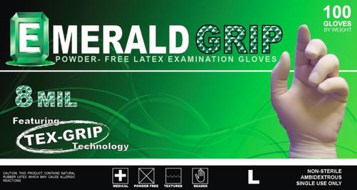 Emerald Grip Powder-Free Latex Gloves – 8 Mil (6800)