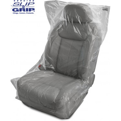 5 Mil Thick Slip-N-Grip® Economy Plastic Disposable Seat Covers (Roll of 500) (FG-P9943-90)