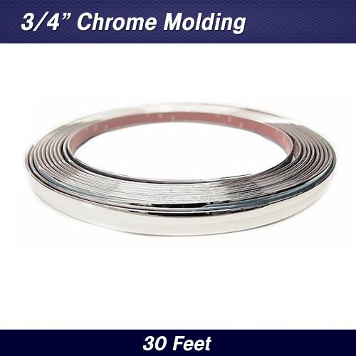 """Custom Chrome Molding Trim 3/4"""" x 30' (37-022)"""