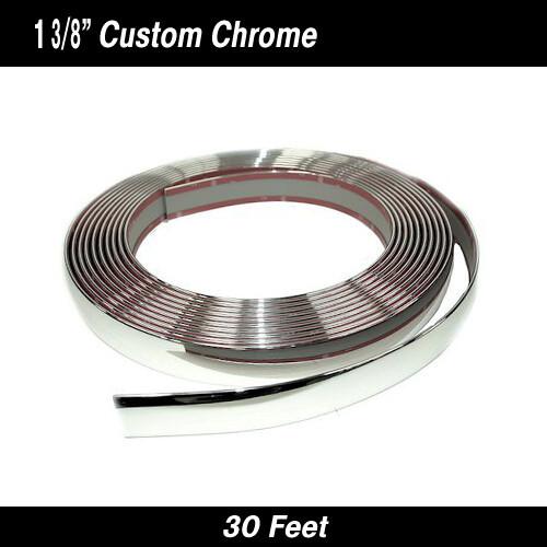 "Custom Chrome Body Molding 1 3/8"" x 30' (37-060)"