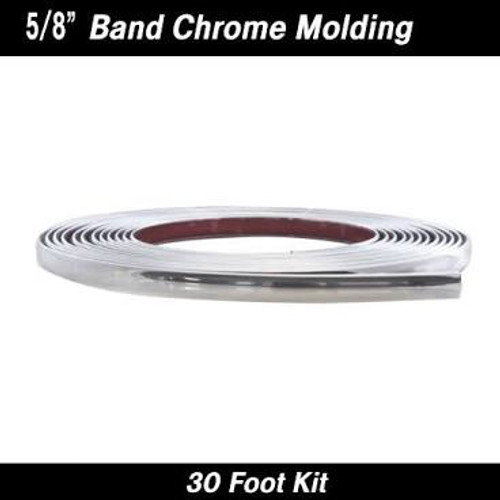 "Chrome Band Wheel Well Molding 5/8"" x 30' kit (37-830)"