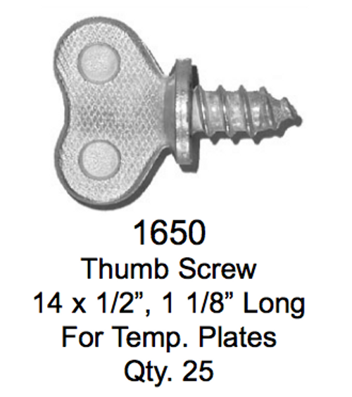 License Plate Fasteners 1650 Thumb Screw