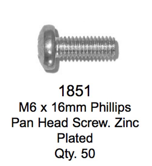 License Plate Fasteners 1851 Pan Head Screw