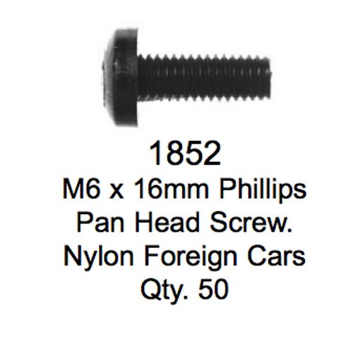 License Plate Fasteners 1852 Pan Head Screw