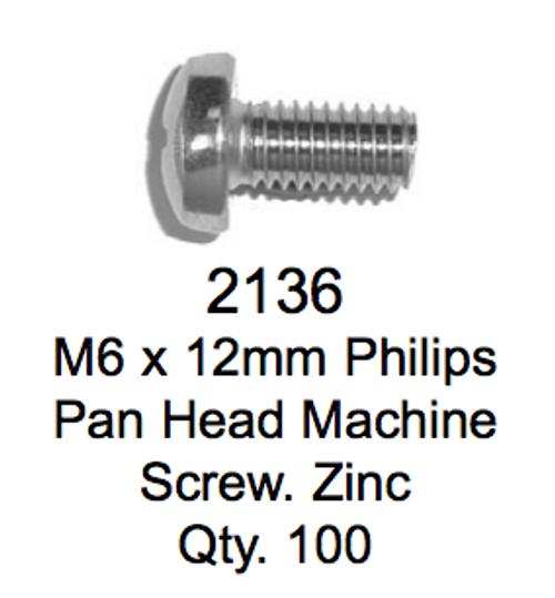 License Plate Fasteners 2136 Pan Head Screw
