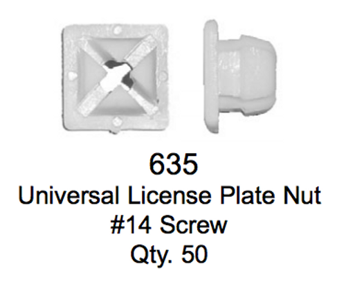 License Plate Fasteners 635 Universal License Plate Screw