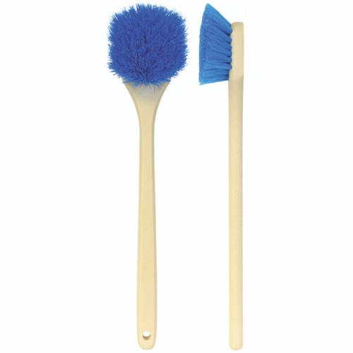"20"" Heavy Duty Wheel, Fender and Wheel Well Scrub Brush-Blue Polypropylene (85-604)"