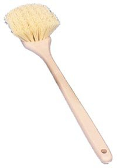 "20"" Wheel, Fender and Wheel Well Scrub Brushes-Cream Polypropylene"