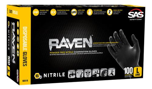 Raven Black Nitrile Disposable Glove (Powder-Free)