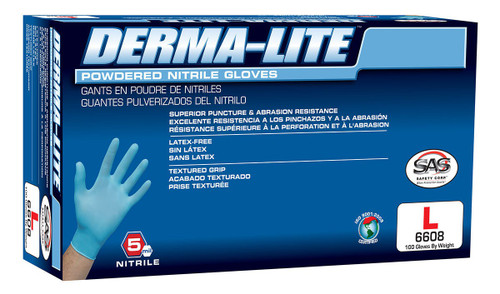 Derma-Lite 5ml Nitrile Disposable Gloves (Powdered)