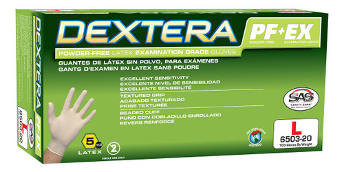 Dextera Latex Disposable Glove (Powder-Free)