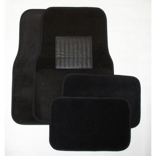 black universal carpet mats