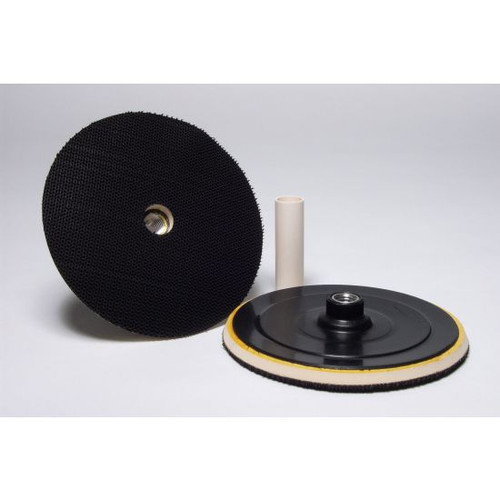VELCRO BACKING PLATE FOR ROUNDED EDGE PADS