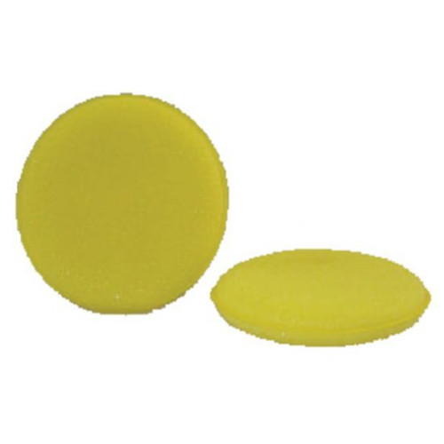ROUND FOAM APPLICATOR PAD - YELLOW 4""