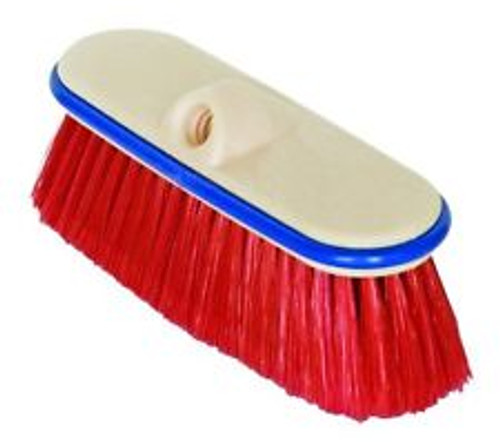 "9"" Nylon Truck Wash Brush in Red"
