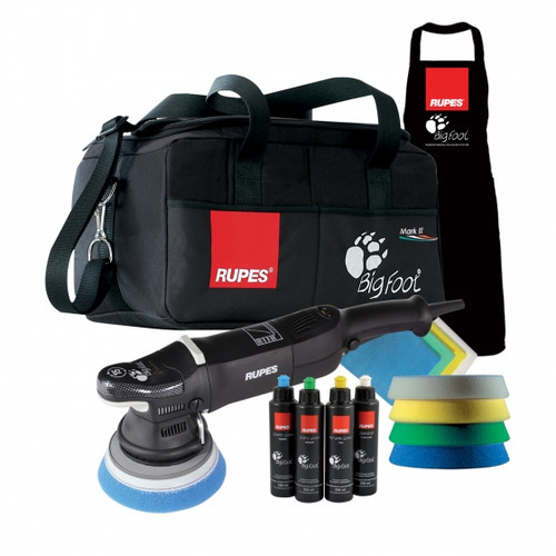 Rupes mark 2 II Deluxe kit with bag apron pads compounds and micros
